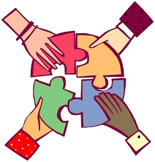 Image of hands working together